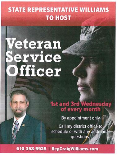 Veterans Service by Rep Craig Williams